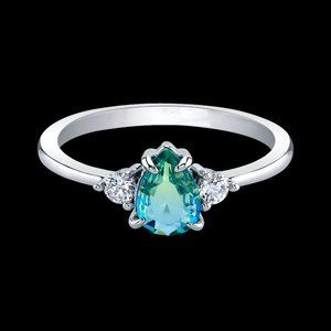 Blue Poppy Ring Fragrant Jewels Size 8 NWT bling